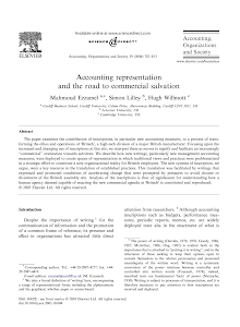 Accounting representation and the road to commercial salvation