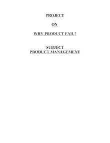 Product Management MBA Project
