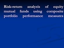 Portfolio Performance Measures