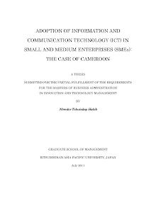 Information and Communication Technology (ICT) In Small and Medium Enterprises