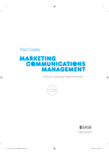 Notes on Marketing Communications Industry