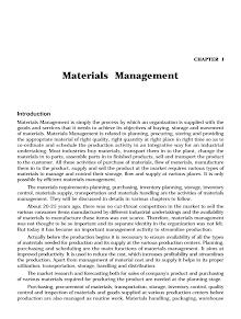 Blackbook on Materials Management
