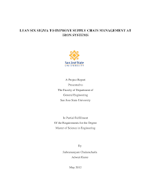 Project Report on Improve Supply Chain Management: Six Sigma