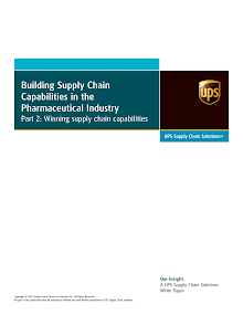 Study on Supply Chain Capabilities in the Pharmaceutical Industry