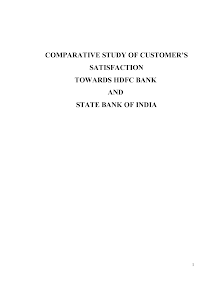 Blackbook project on customer satisfaction towards hdfc bank & sbi