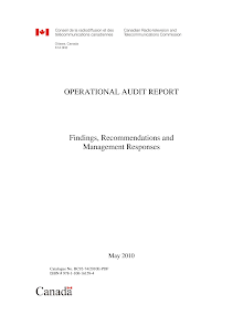 Audit Study on Canadian Radio-television and Telecommunications Commission