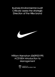 Business Environmental Study on Strategic Direction of The Nike Brand