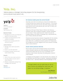 Case Study on Yelp Inc