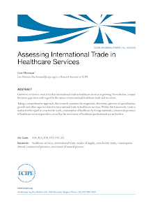 Working Paper on International Trade in Healthcare Services