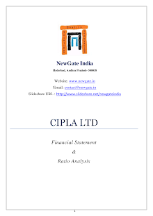 FINANCIAL ANALYSIS OF CIPLA