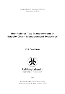 Project on Supply Chain Management Practices