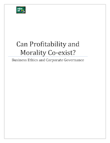 Can Profitability & Morality Co-exist
