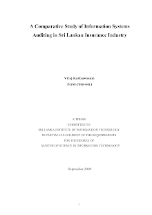 A Comparative Study of Information Systems Auditing in Sri Lankan Insurance Industry