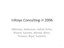 PRESENTATION ON INFOSYS CONSULTING STRATEGY