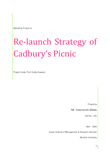 Relaunch Strategy of Cadbury Picnic