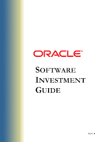 SOFTWARE INVESTMENT GUIDE-ORACLE