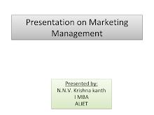 Presentation on Marketing Management