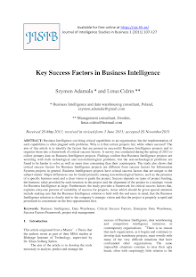 Key Success Factors in Business Intelligence