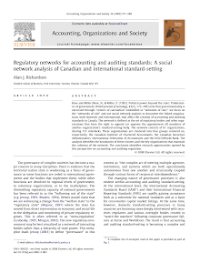 Regulatory networks for accounting and auditing standards: A social network analysis of Ca