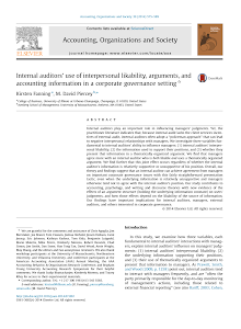 Internal auditors' use of interpersonal likability, arguments, and accounting information