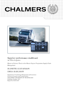 Supply Chain Management Thesis on Supplier performance - Volvo Logistics