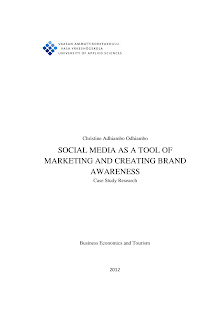 Research Study on Social Media as a Tool of Marketing and Creating Brand Awareness