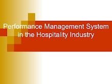 Performance Management System in the Hospitality Industry