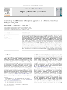 An Ontology-based Business Intelligence Application In A Financial Knowledge Management Sy