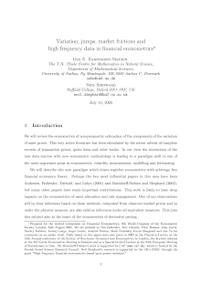 Market Frictions and High Frequency Data in Financial Econometrics