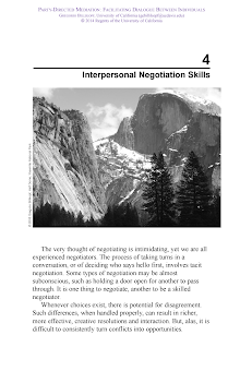 Interpersonal Negotiation Skills