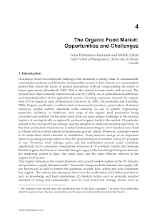 Study on Organic Food Market - Opportunities and Challenges