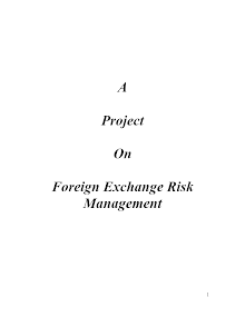 Project on Foreign Exchange Risk Management
