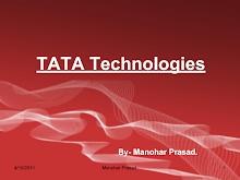PRESENTATION ON TATA TECHNOLOGIES