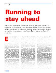 Reebok-Running to stay ahead