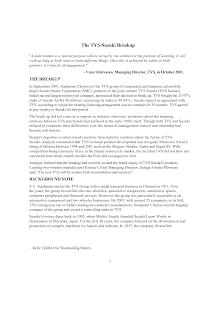A Study on TVS-Suzuki Breakup