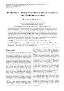 Study on Data Envelopment Analysis - Gas Stations