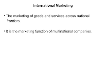 Project on International Marketing Decisions