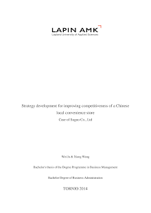 Strategy Development Study on Chinese Local Convenience Store
