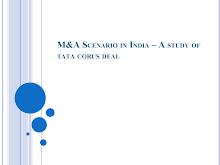 M&A Scenario in India: Tata Corus Deal Study