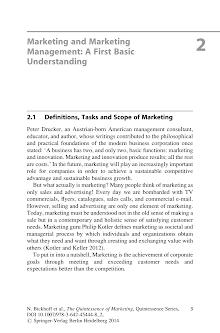 Basic Understanding of Marketing and Marketing Management