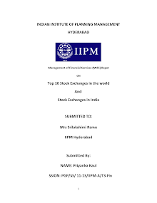 Blackbook project on top 10 stock exchanges in the world & stock exchange in india