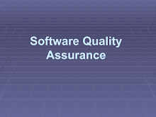 Project on Software Quality Assurance