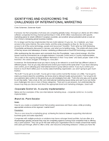 Identifying and Overcoming The Challenges of International Marketing