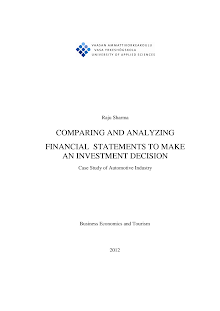 Study on Financial statements of Automotive Industry