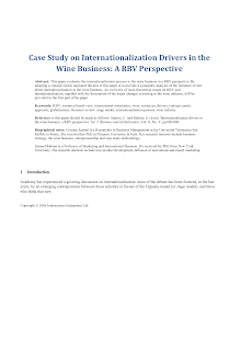 Case Study on Internationalization of Companies