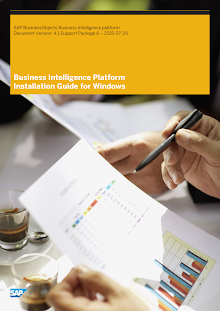 Business Intelligence Platform Installation Guide for Windows