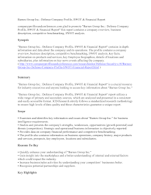 Barnes Group Inc.: Defense Company Profile, SWOT & Financial Report