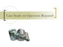Case Study on Operation Research