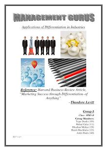 Marketing Success through differentiation
