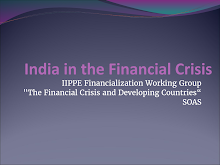 Presentation on Financial Crisis in India